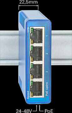 W&T 55604 Ethernet Switch Industry, 4 Port