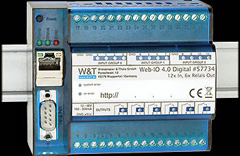 W&T 57734 Web-IO 4.0 Digital, 12xIn, 6xRelay Out