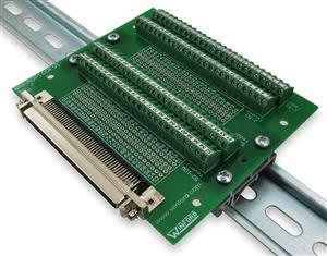 100-Pin Half-Pitch DSUB, Right Angle ( DIN rail mount)