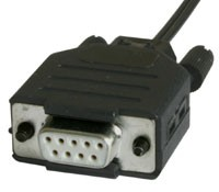 Plastic-Fiber Optic Interface: RS232 9-pin Female Model 81009