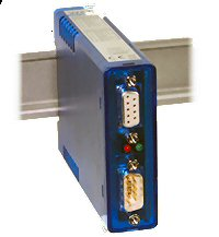 W&T Model 88205 - RS232 Isolator in DIN Rail Mount Housing